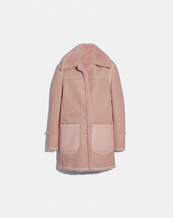 Coach REVERSIBLE SHEARLING COAT