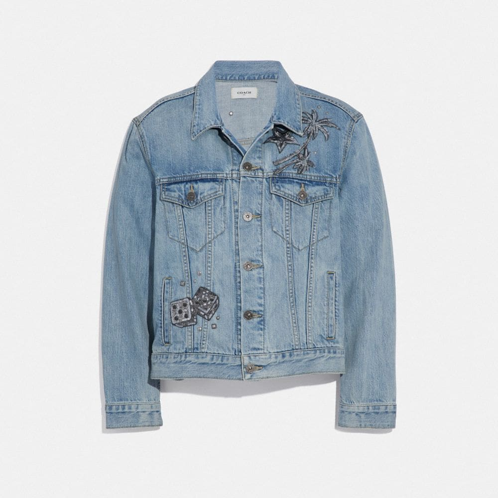 VESTE EN DENIM ORNEMENTÉE