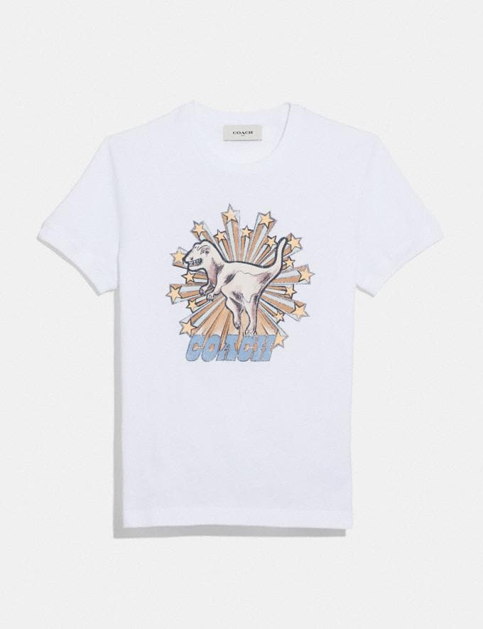Coach Rexy Star T-Shirt Optic White New Featured Online Exclusives