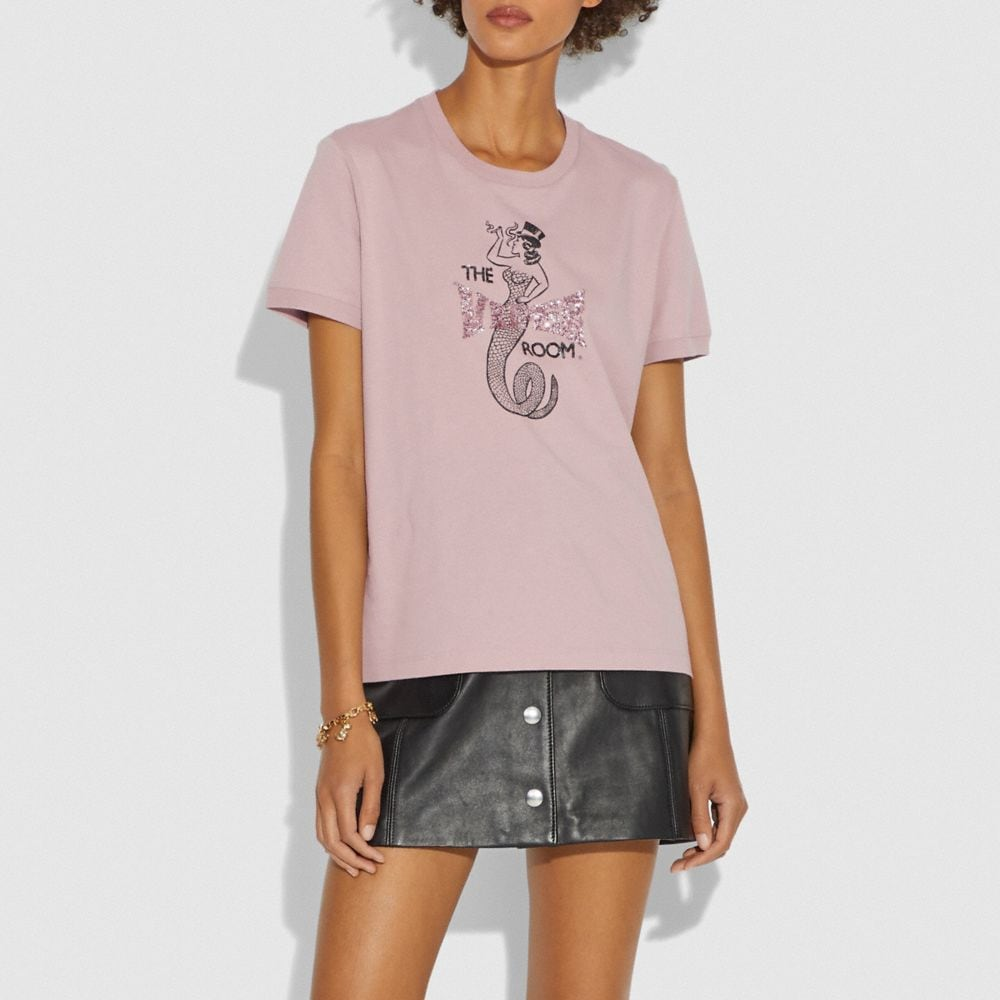 Coach Viper Room Embellished T-Shirt Alternate View 1