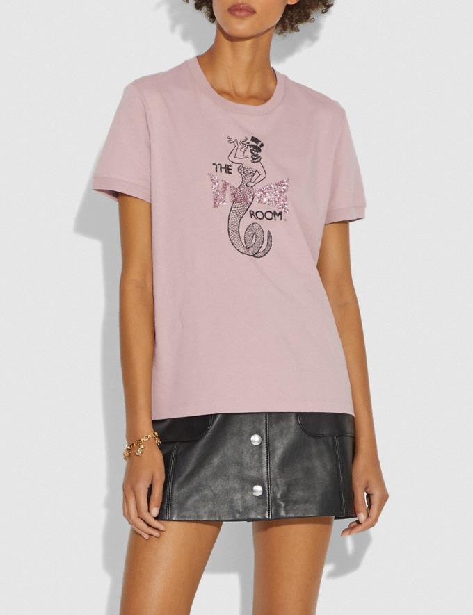Coach Viper Room Embellished T-Shirt Pink New Women's New Arrivals Ready-to-Wear Alternate View 1