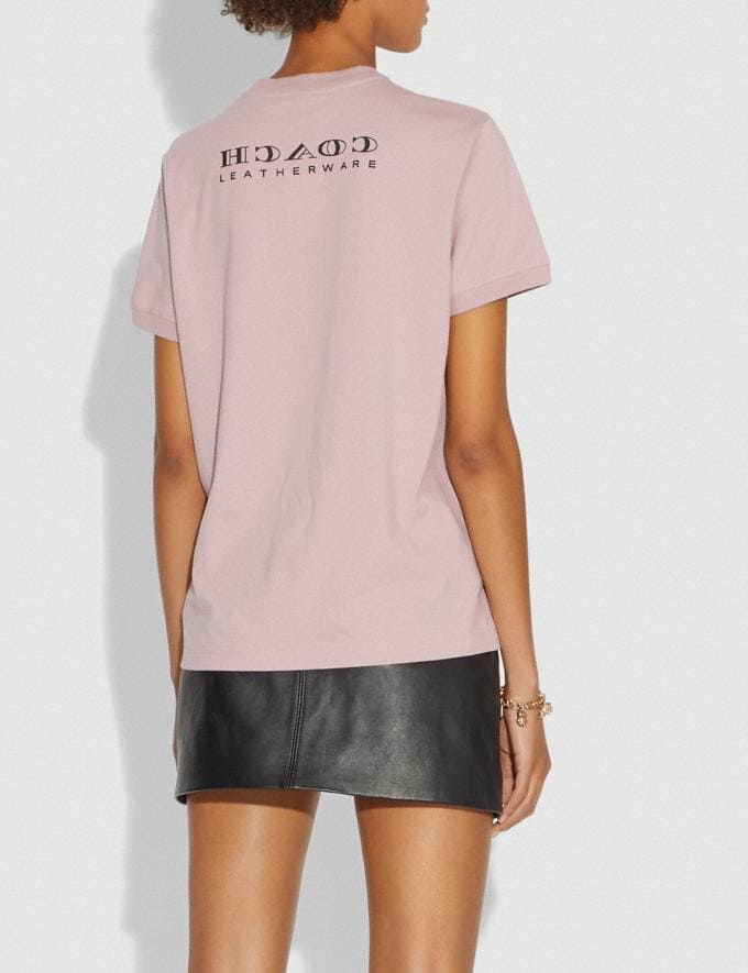 Coach Viper Room Embellished T-Shirt Pink New Women's New Arrivals Ready-to-Wear Alternate View 2