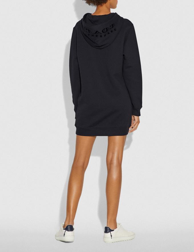 Coach Viper Room Sweatshirt Dress Dark Shadow SALE Women's Sale Ready-to-Wear Alternate View 2