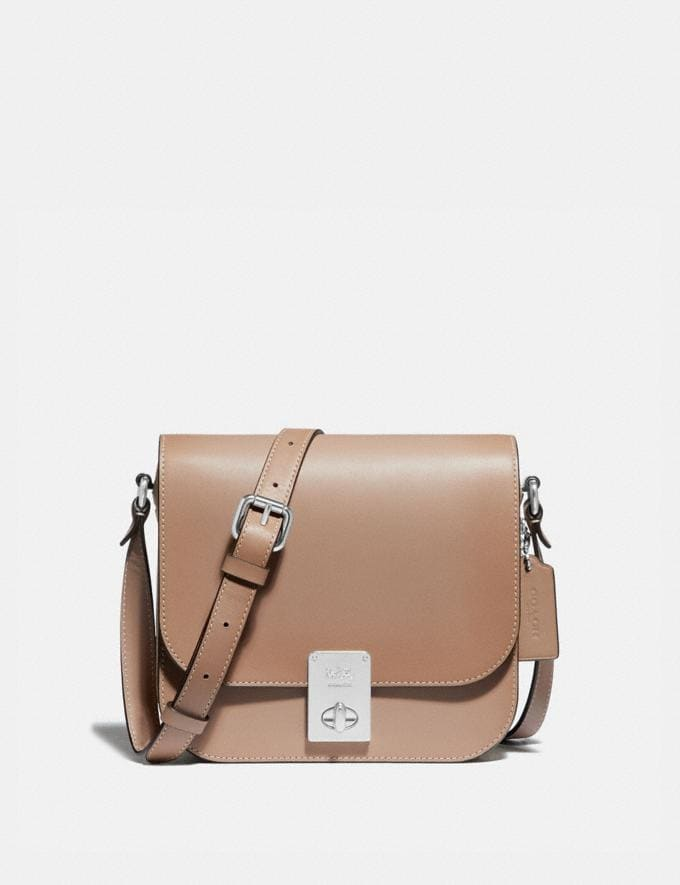 Coach Hutton Saddle Bag in Colorblock Silver/Taupe Multi Gifts For Her Under $500