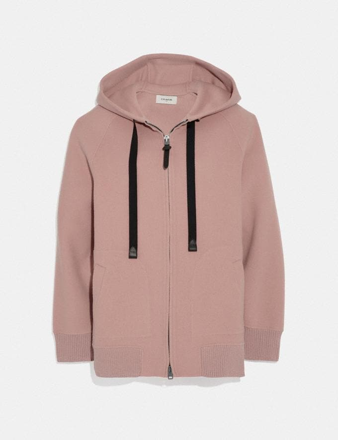 Coach Luxury Wool Hoodie Blush SALE Women's Sale Ready-to-Wear