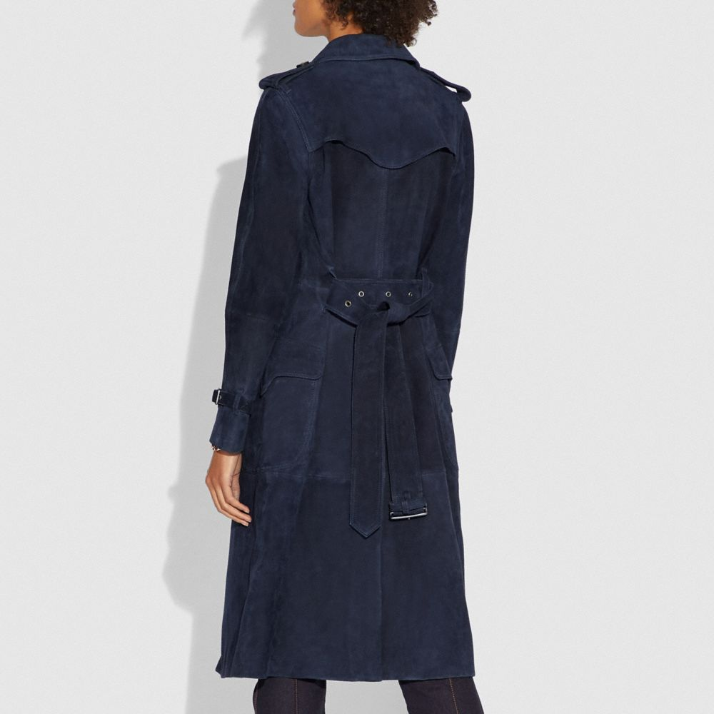 Coach Suede Trench With Printed Lining Alternate View 2