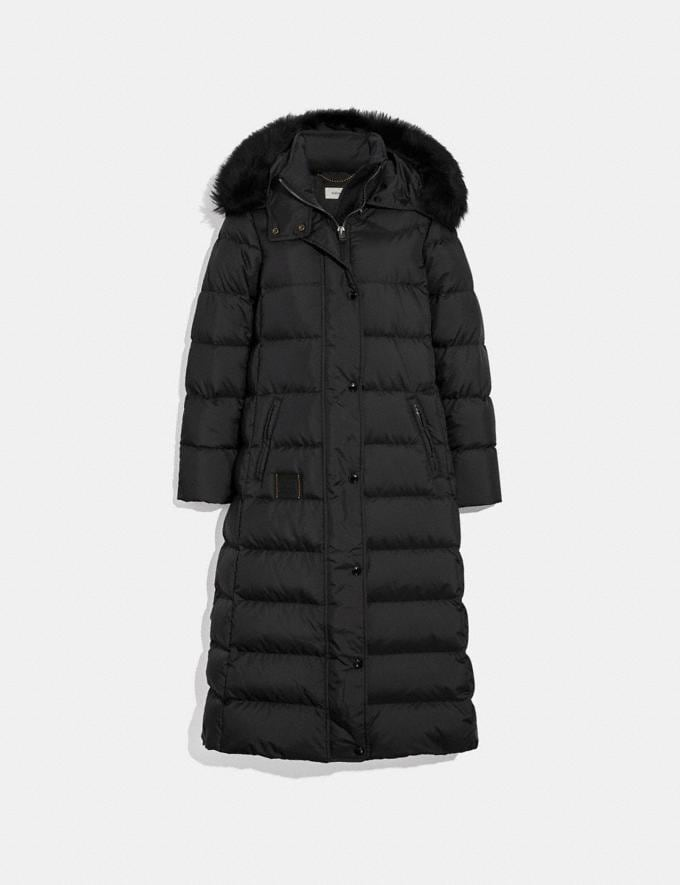 1668e78d363 Coach Long Puffer Black