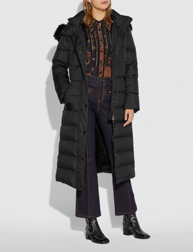 Coach Long Puffer Black  Alternate View 1