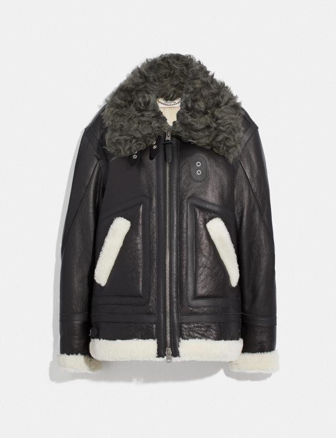 Coach Oversized Shearling Aviator Black SALE Women's Sale Ready-to-Wear