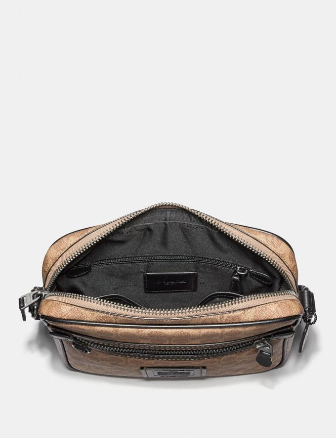 Coach Dylan 27 in Signature Canvas Charcoal/Black Antique Nickel Men Bags Messenger Bags Alternate View 2