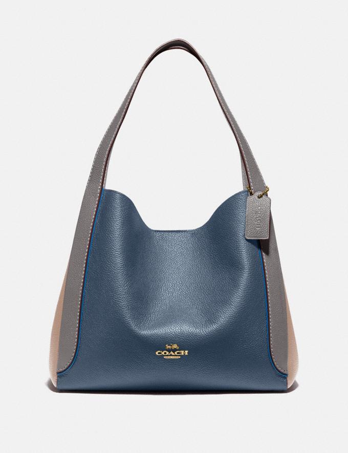 Coach Hadley Hobo in Colorblock B4/Dark Denim Multi Women Bags Shoulder Bags