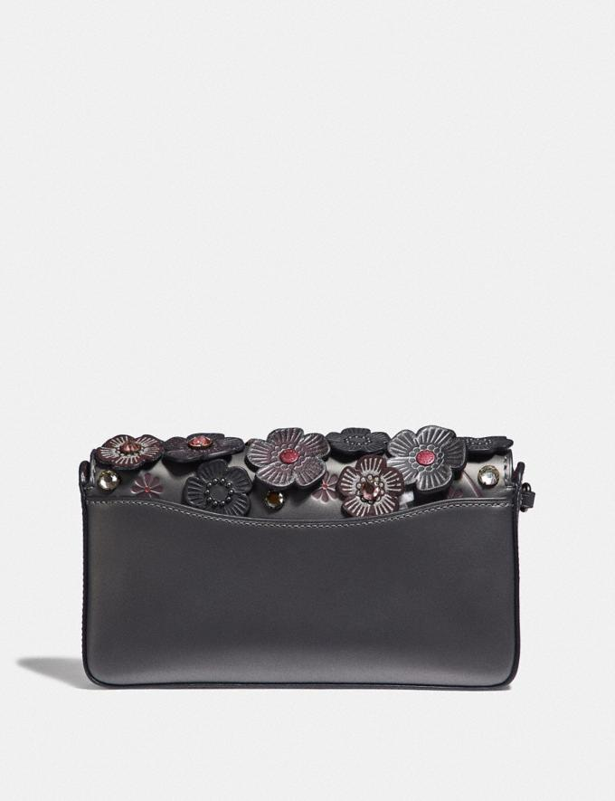 Coach Dinky With Crystal Tea Rose Metallic Graphite/Pewter Women Bags Crossbody Bags Alternate View 2