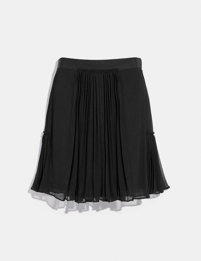 Coach Pleated Skirt Black