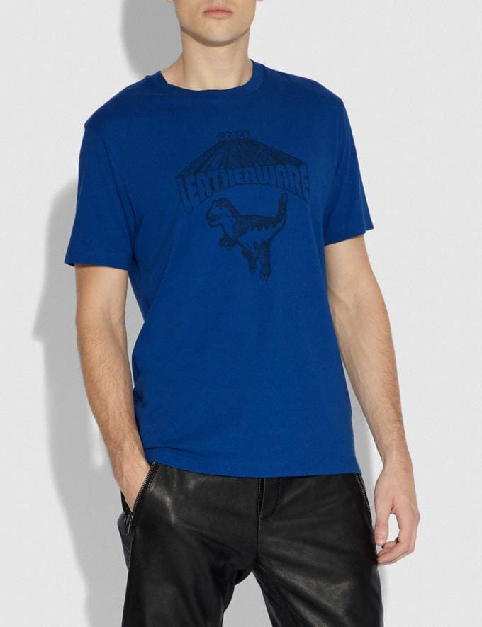 Coach Rexy T-Shirt Blue Quartz Men Ready-to-Wear Tops & Bottoms Alternate View 1