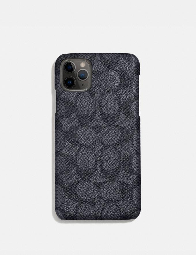 Coach iPhone 11 Pro Max Case in Signature Canvas Charcoal Women Accessories Phone Cases