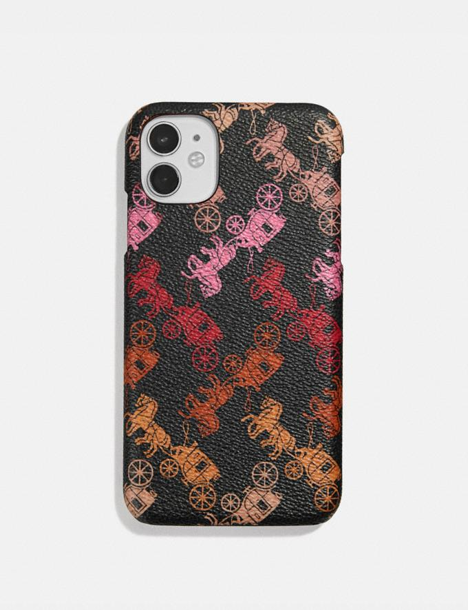 Coach iPhone 11 Case With Horse and Carriage Print Black Multi Women Accessories Phone Cases