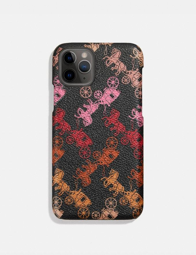 Coach iPhone 11 Pro Case With Horse and Carriage Print Black Multi Women Accessories Phone Cases