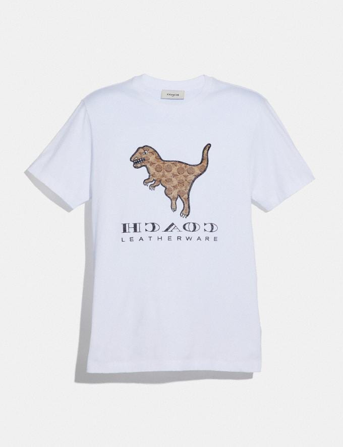 Coach Signature Rexy T-Shirt Optic White Men Ready-to-Wear Tops & Bottoms