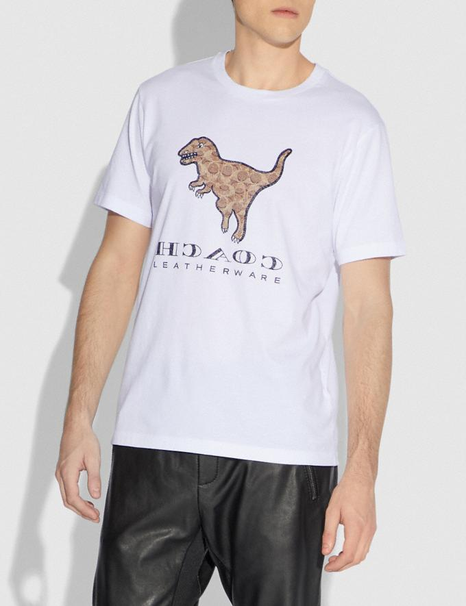 Coach Signature Rexy T-Shirt Optic White Men Ready-to-Wear Tops & Bottoms Alternate View 1