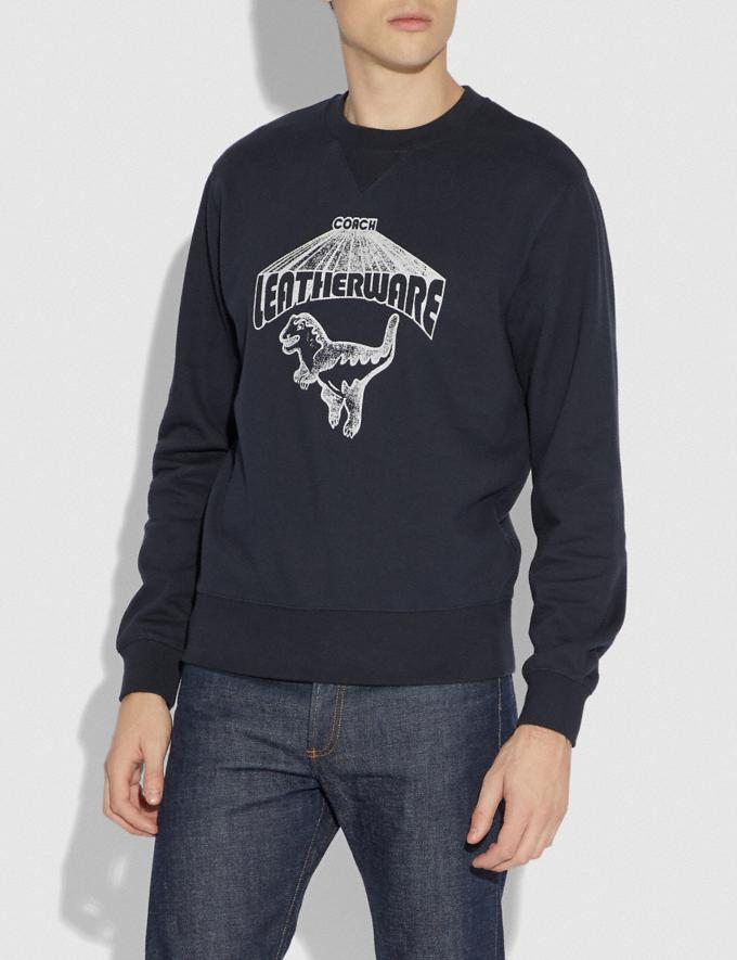 Coach Rexy Sweatshirt Abyss Men Ready-to-Wear Tops & Bottoms Alternate View 1
