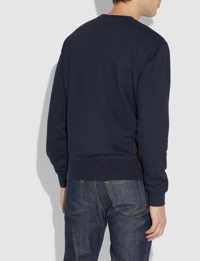 Coach Rexy Sweatshirt Abyss Men Ready-to-Wear Tops & Bottoms Alternate View 2