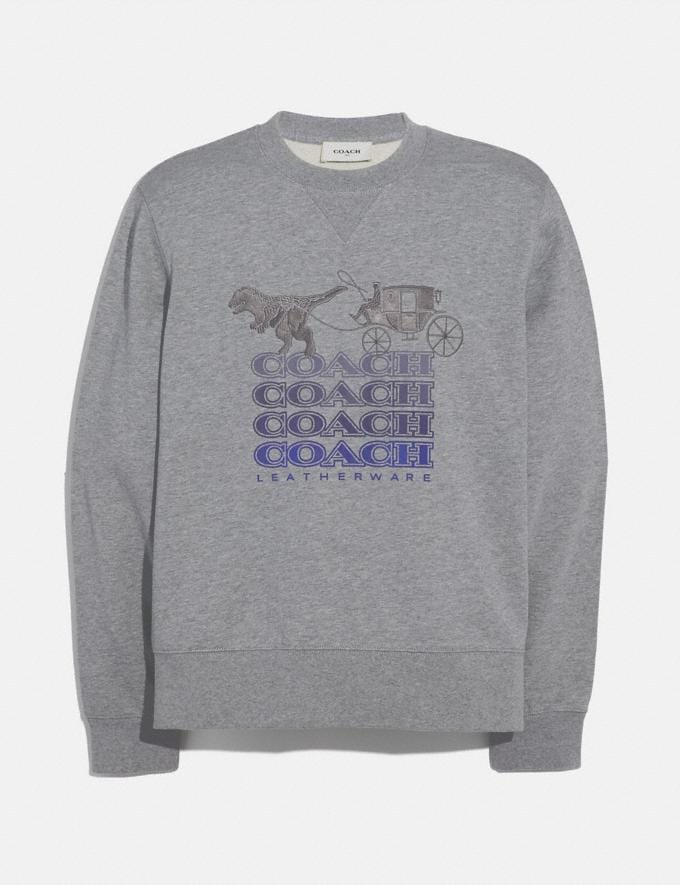 Coach Shadow Rexy and Carriage Sweatshirt Heather Grey Men Ready-to-Wear Tops & Bottoms
