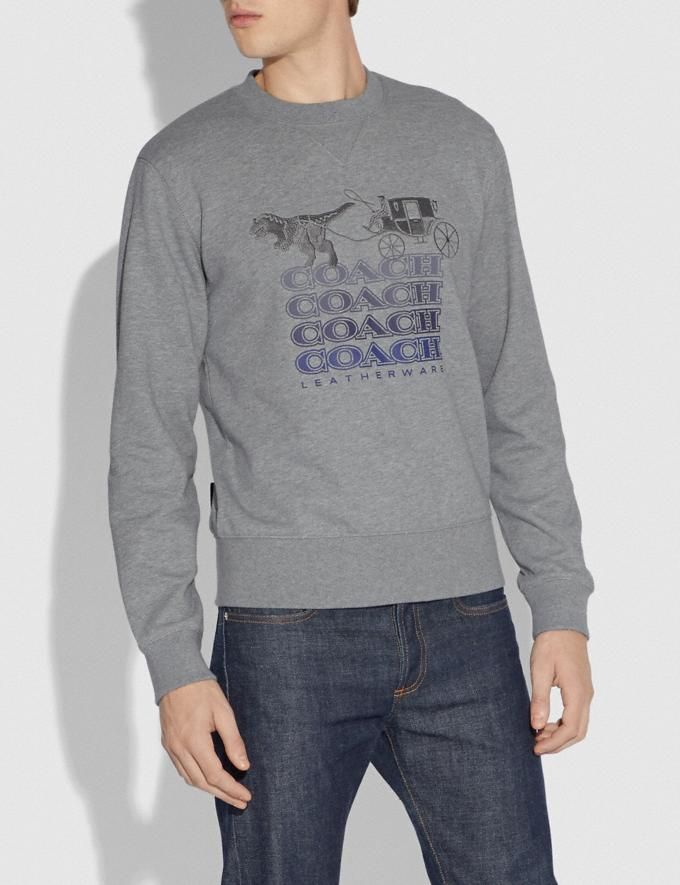 Coach Shadow Rexy and Carriage Sweatshirt Heather Grey Men Ready-to-Wear Tops & Bottoms Alternate View 1