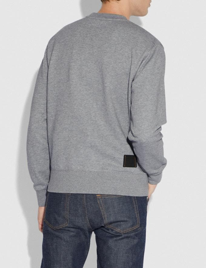 Coach Shadow Rexy and Carriage Sweatshirt Heather Grey Men Ready-to-Wear Tops & Bottoms Alternate View 2