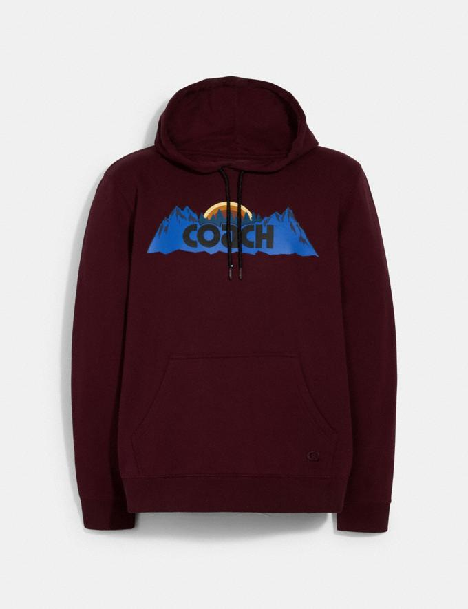 Coach Coach Mountain Hoodie Maroon Translations null