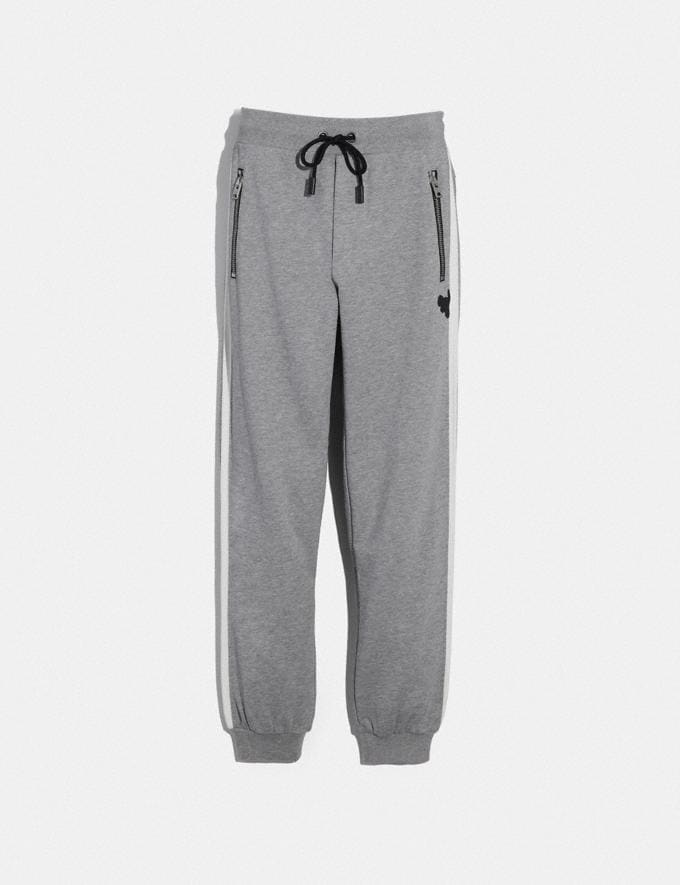 Coach Track Pants Heather Grey