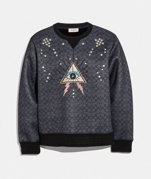 SIGNATURE PYRAMID EYE SWEATSHIRT
