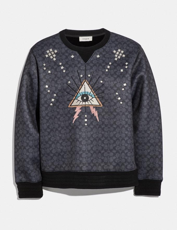 Coach Signature Pyramid Eye Sweatshirt Black