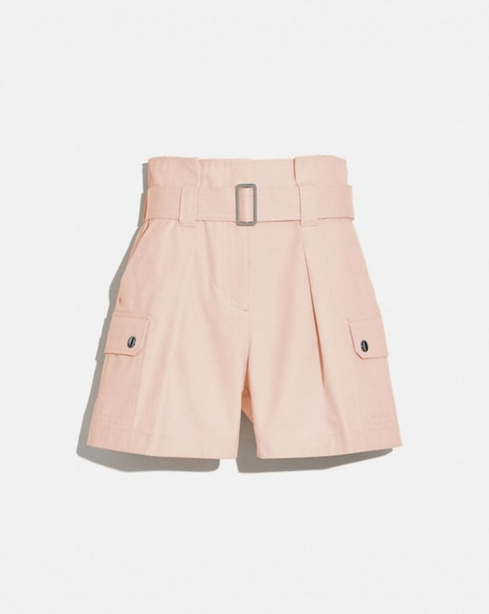 COTTON BELTED SHORTS
