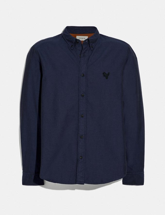 Coach Solid Rexy Patch Shirt Navy