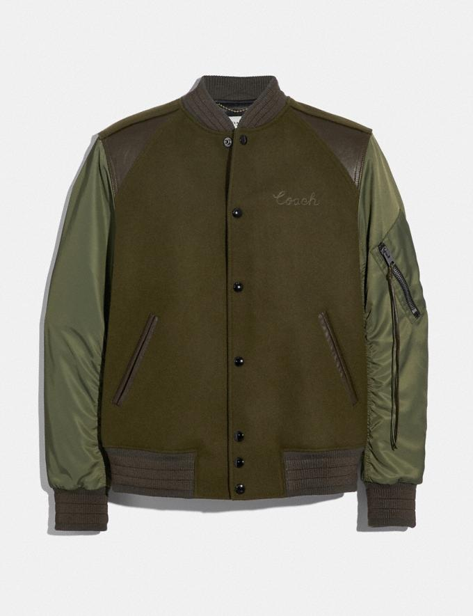 Coach Ma-1 Varsity Jacket Army Green SALE Men's Sale Ready-to-Wear