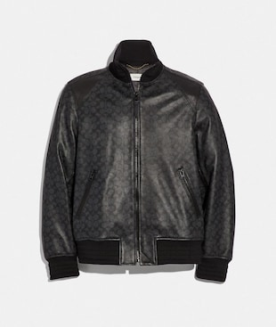 SIGNATURE LEATHER TRACK JACKET