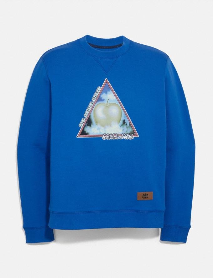 Coach Big Apple Camp Sweatshirt Bright Blue Men Ready-to-Wear Clothing