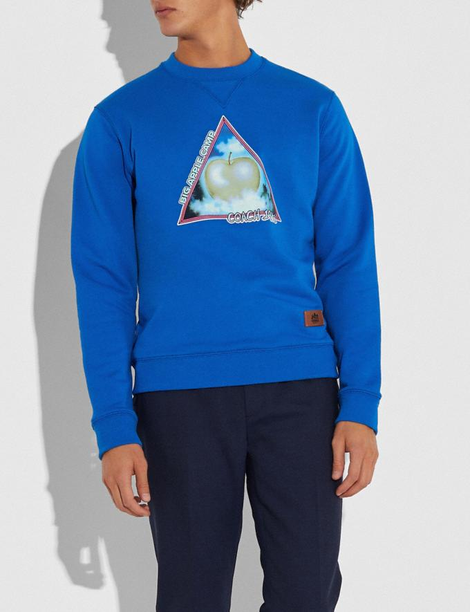 Coach Big Apple Camp Sweatshirt Bright Blue Men Ready-to-Wear Clothing Alternate View 1