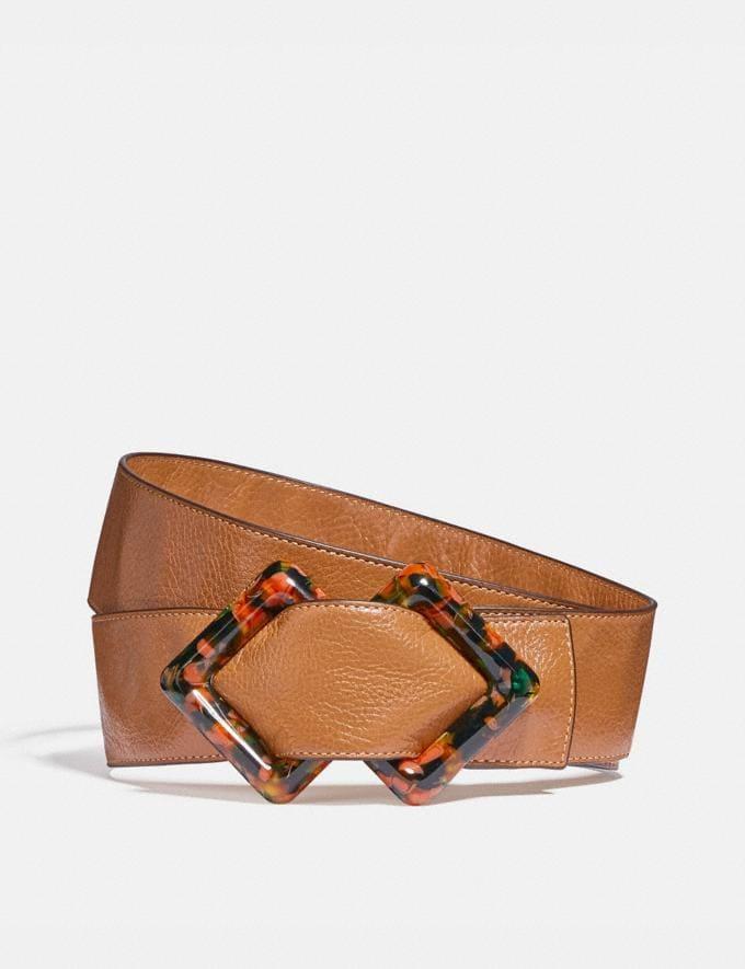 Coach Diamond Slider Buckle Belt, 45mm Penny Women Accessories
