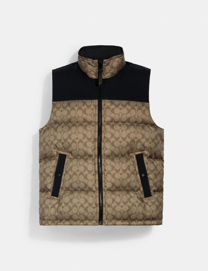 Coach Signature Down Vest Khaki Signature DEFAULT_CATEGORY
