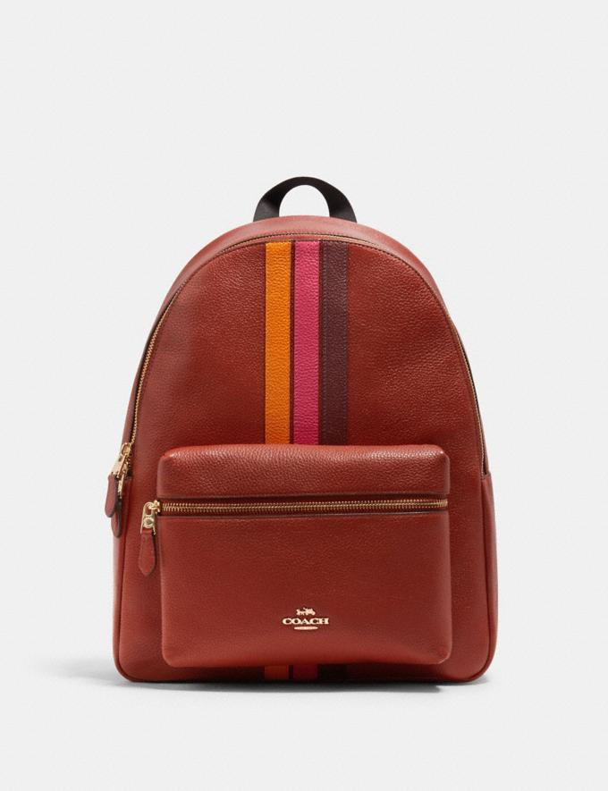 CHARLIE BACKPACK WITH VARSITY STRIPE