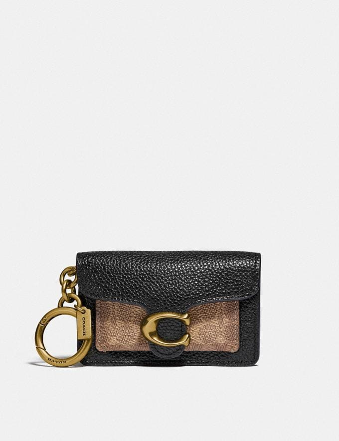 Coach Mini Tabby Bag Charm in Signature Canvas B4/Black Women Accessories Bag Charms & Key Rings