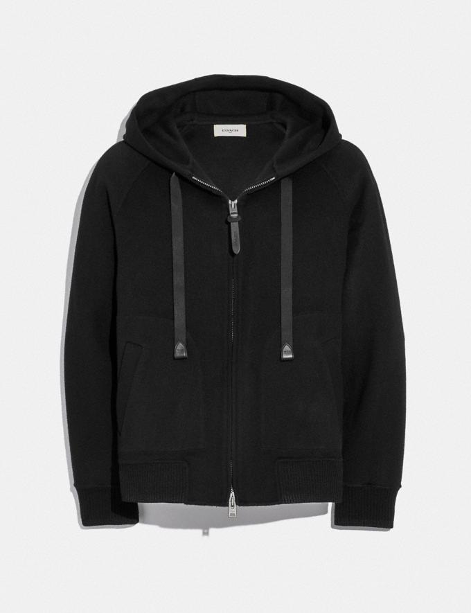 Coach Double Face Hoodie Black