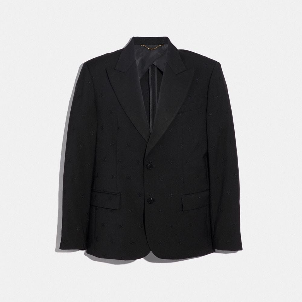 Coach Jacquard Tuxedo Jacket