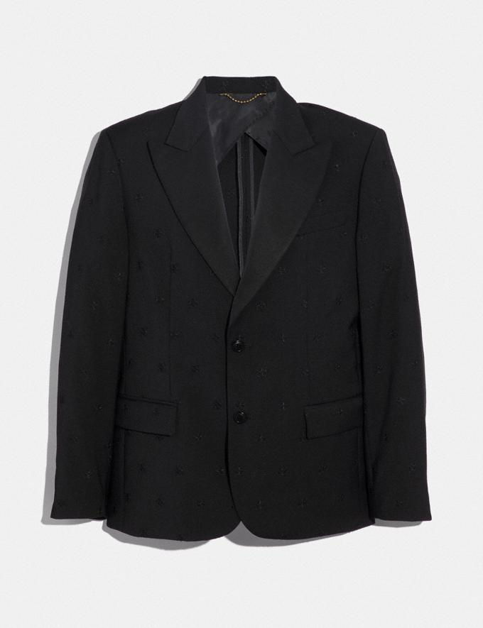Coach Jacquard Tuxedo Jacket Black SALE Men's Sale Ready-to-Wear