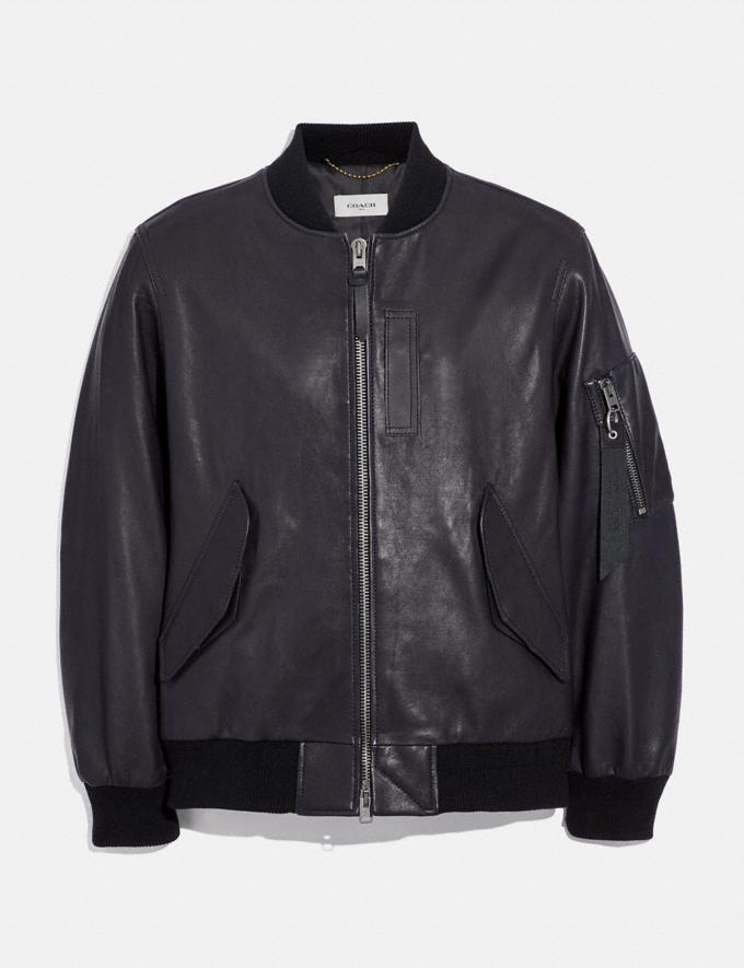 Coach Leather Ma-1 Jacket Midnight