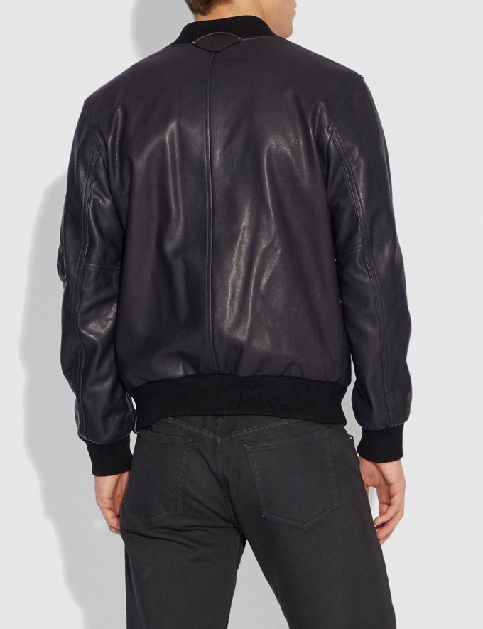 Coach Leather Ma-1 Jacket Midnight  Alternate View 2