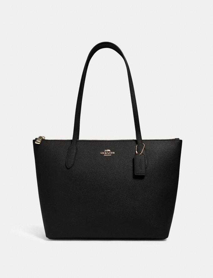 Coach Zip Top Tote Im/Black Bags Bags New Arrivals