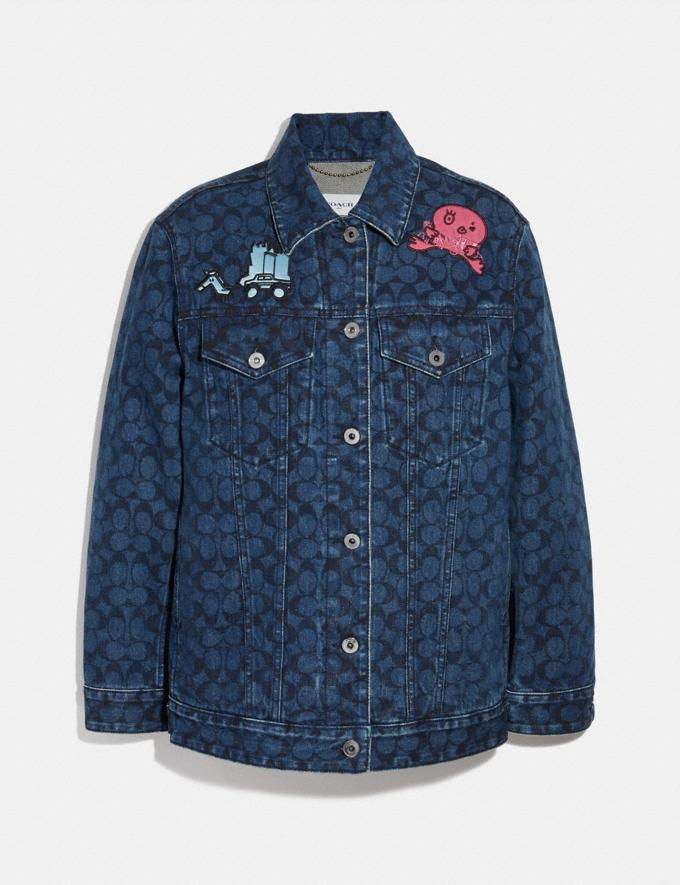 Coach Horse and Carriage Denim Jacket Indigo Women Ready-to-Wear Coats & Jackets
