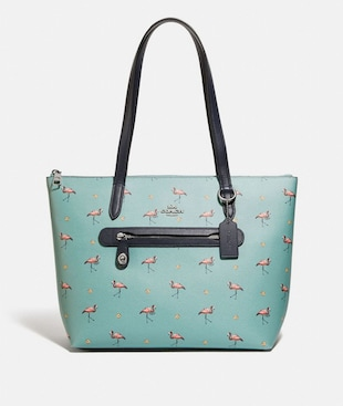 TAYLOR TOTE WITH FLAMINGO PRINT